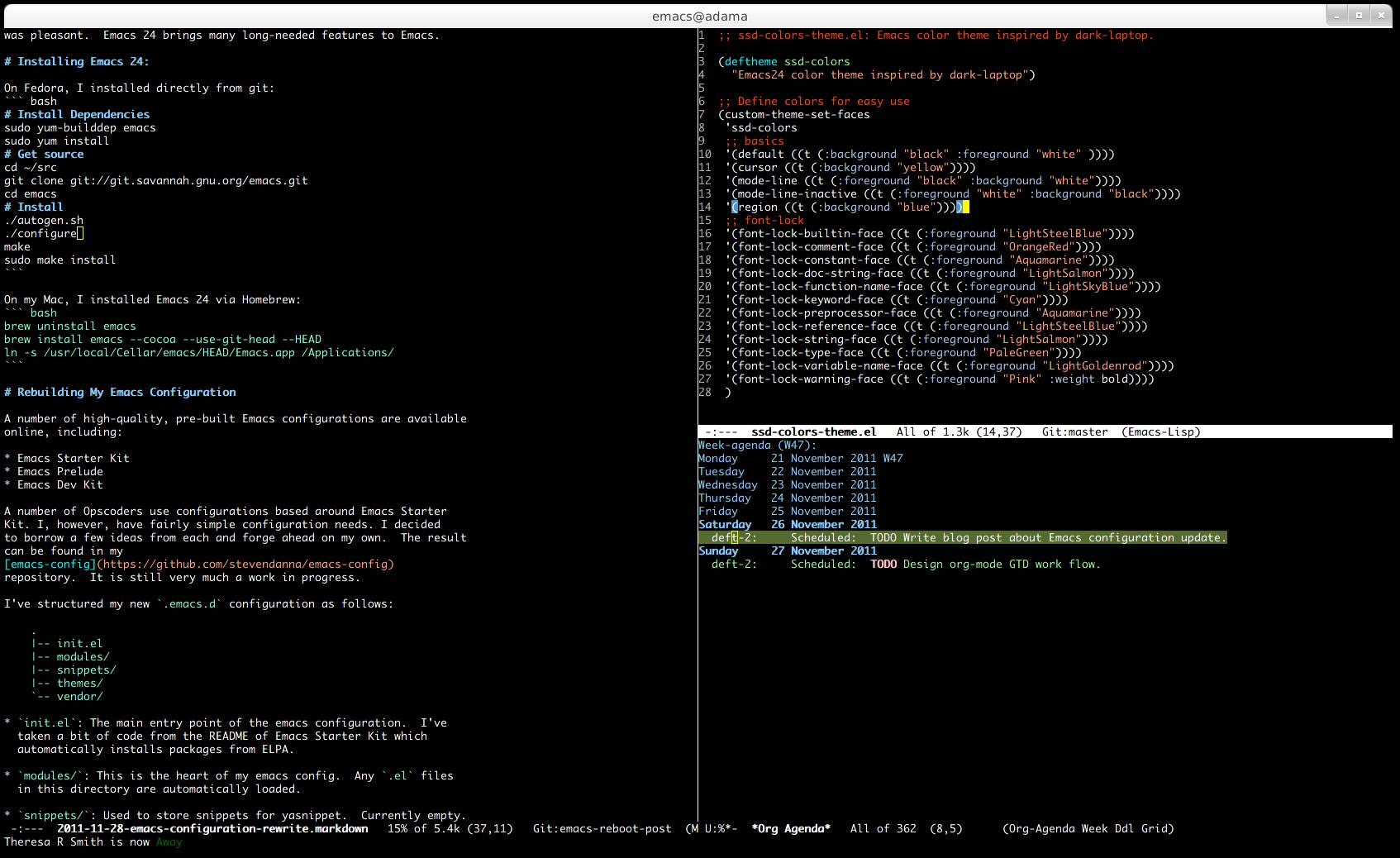 Emacs Configuration Rewrite - Steven Danna's Blog